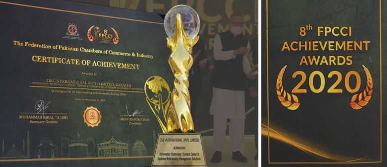 ZRG Receives 5th Consecutive Achievement Gold Award from FPCCI